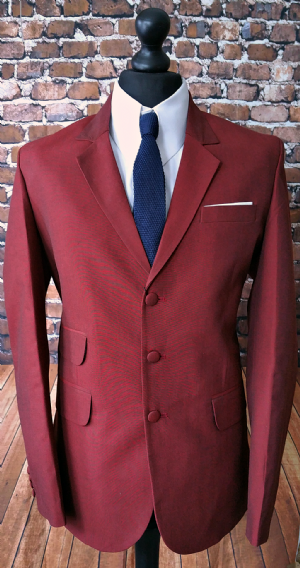 Relco Burgundy Rust Two Tone Suit